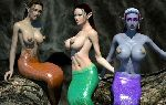 Elf like mermaids with big breasts ready for cock